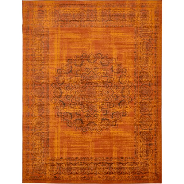 Neuilly Terracotta/Brown Area Rug by Mistana