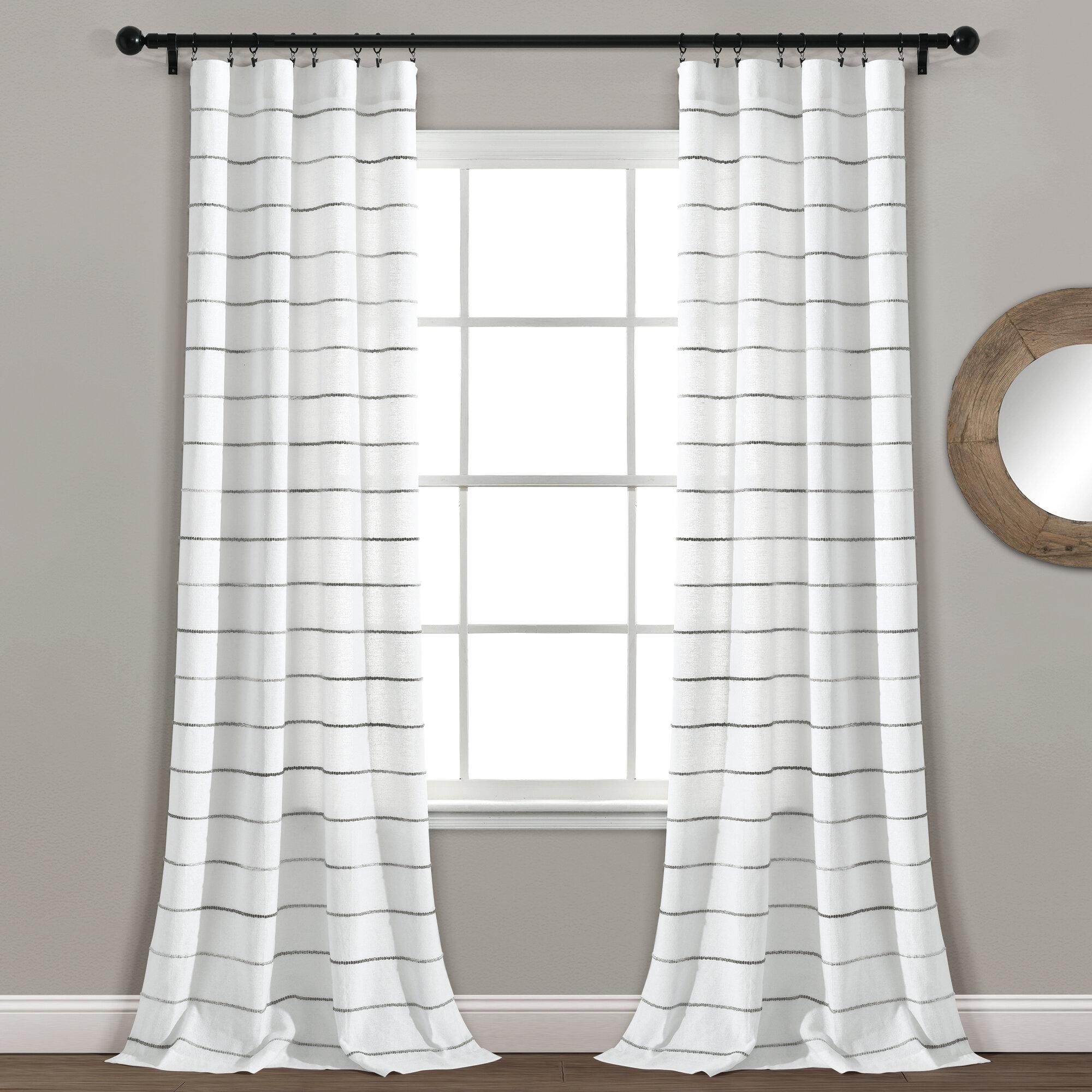 Gutirrez Striped Semi Sheer Curtain Panels Reviews Allmodern