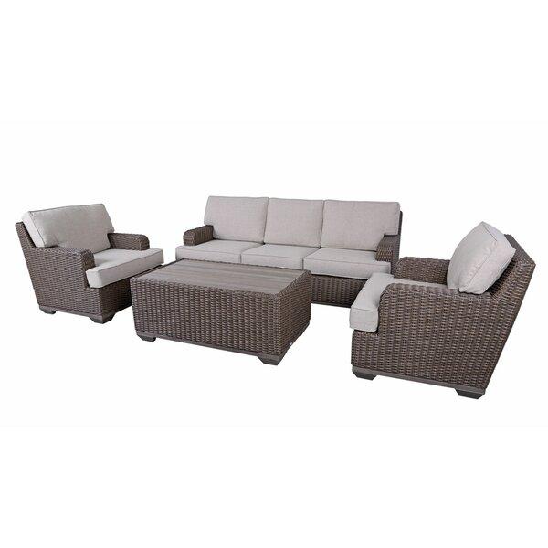 Simge 4 Piece Sofa Seating Group with Cushions by Latitude Run