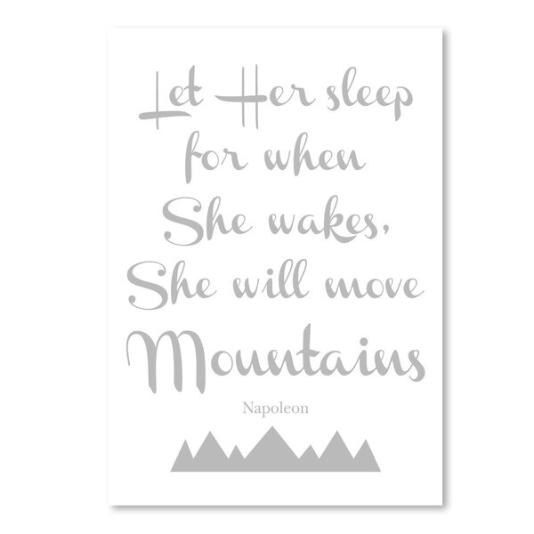 Let Her Sleep Mountains Rectangle Paper Print by East Urban Home