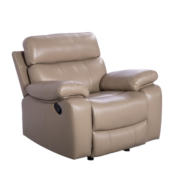 Mellor Leather Manual Recliner [Red Barrel Studio]