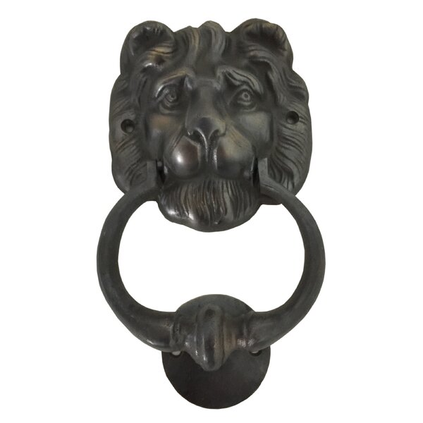 Lion Head Brass Door Knocker by D-Art Collection