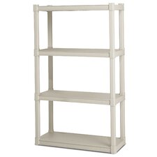 57 H 4 Shelf Shelving Unit Starter by Sterilite