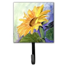 Sunflower Leash Holder and Wall Hook by Caroline's Treasures