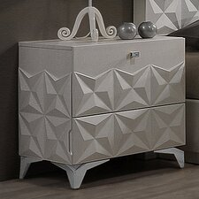 India 2 Drawer Nightstand by BestMasterFurniture