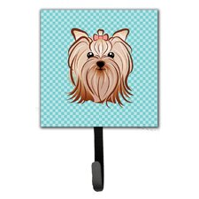 Checkerboard Yorkie Yorkshire Terrier Leash Holder and Wall Hook by Caroline's Treasures