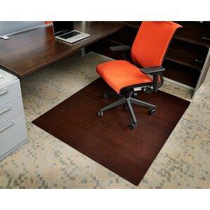 Bamboo Rectangular Office Chair Mat