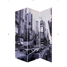 72 x 48 New York City 3 Panel Room Divider by Screen Gems