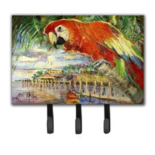 Parrot at Lulu's Leash Holder and Key Hook by Caroline's Treasures
