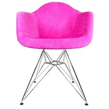 Velvet Fabric Lounge Chair with Steel Legs by eModern Decor