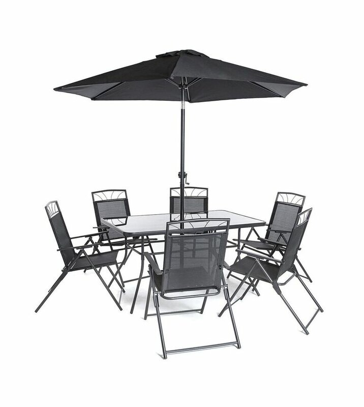 default name. SunTime Outdoor Living Memphis Steel 8 Piece Dining Set   Reviews