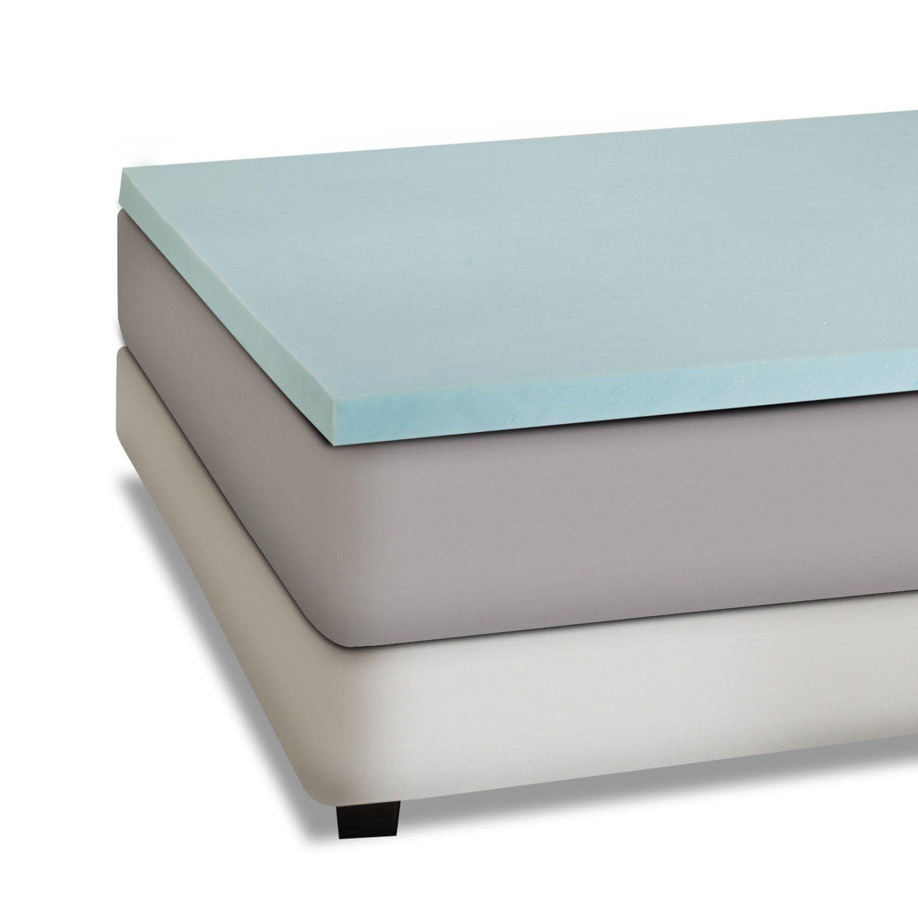 Independent sleep 2 gel memory foam mattress topper for Mattress topper