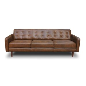 Models Mid Century Modern Leather Couch Sofa M Throughout Simple Design