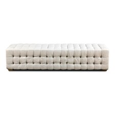 Long Tufted Upholstered Bench by Sarreid Ltd