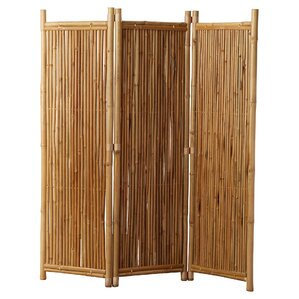 Porter 63 X 60 3 Panel Bamboo Room Divider