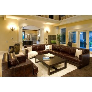Easton Leather Sectional by Elements Fine Home Furnishings
