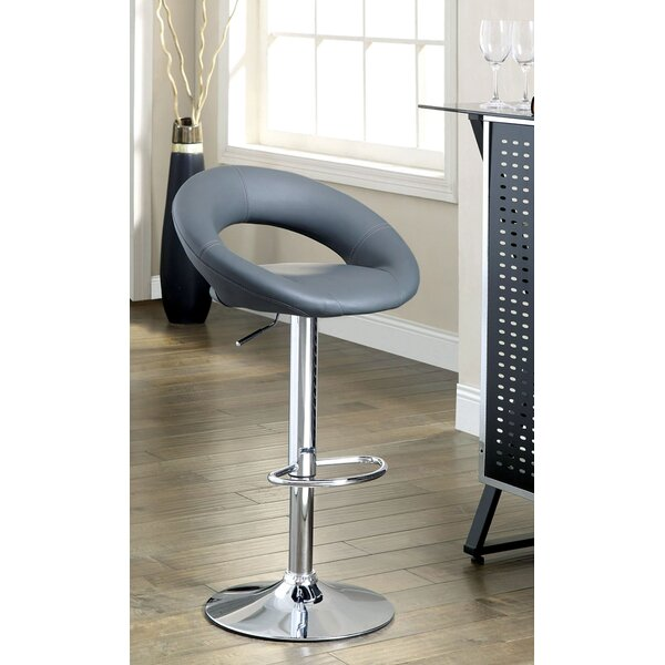 Theory Adjustable Height Swivel Bar Stool (Set of 2) by Hokku Designs