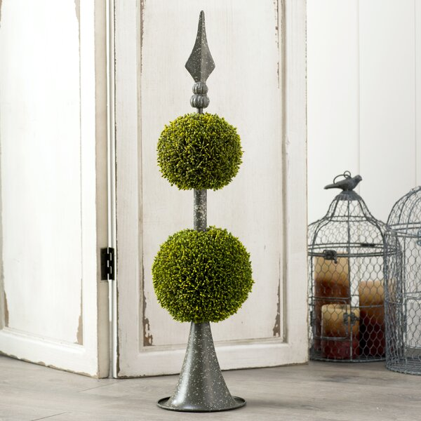 Faux Double Ball Topiary with Spear Finial by Ophelia & Co.