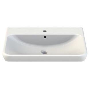 Comparison Belo Ceramic Rectangular Drop-In Bathroom Sink with Overflow ByCeraStyle by Nameeks