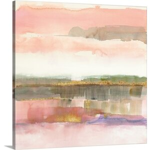 'Influence of Line and Color Gold Crop' by Mike Schick Painting Print on Wrapped Canvas by Great Big Canvas