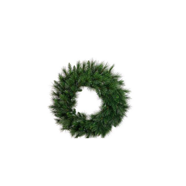 36 Artificial Long Needle Pine Christmas Wreath by Tori Home