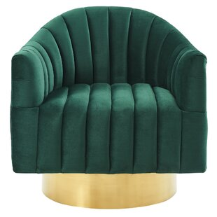 Price Check Lachapelle Swivel Armchair By Everly Quinn