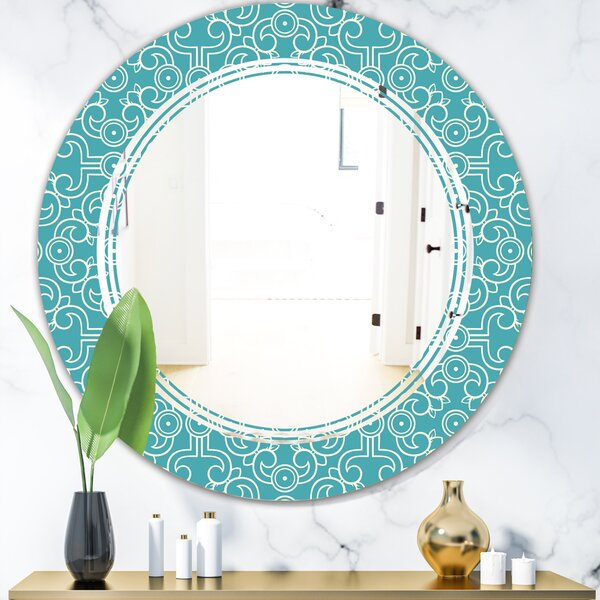 Triple C Abstract Pattern Design III Eclectic Frameless Wall Mirror