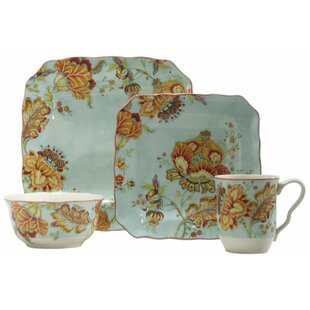 Gabrielle 16 Piece Dinnerware Set Service for 4  sc 1 st  Wayfair & Autumn Dinnerware | Wayfair
