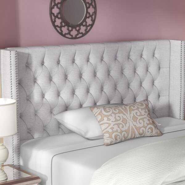 Candice Upholstered Wingback Headboard by Rosdorf Park