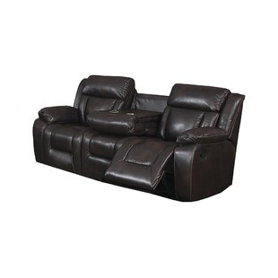 Aisling Traditional Reclining Sofa with Fold Down Tray
