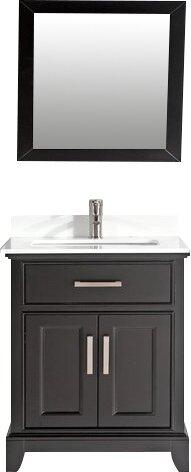 Junie Stone 30 Single Bathroom Vanity with Mirror by Gracie Oaks