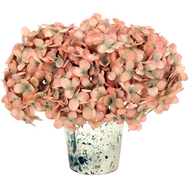 Hydrangea in Mercury Vase by Distinctive Designs