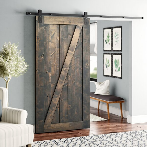 Hobson Wood Single Panel Interior Barn Door by Laurel Foundry Modern Farmhouse