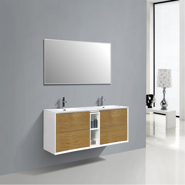 Boan 75 Wall-Mounted Double Bathroom Vanity Set by George Oliver