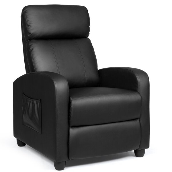 Rosmunda Faux Leather Power Rocker Recliner with Massage W003418297