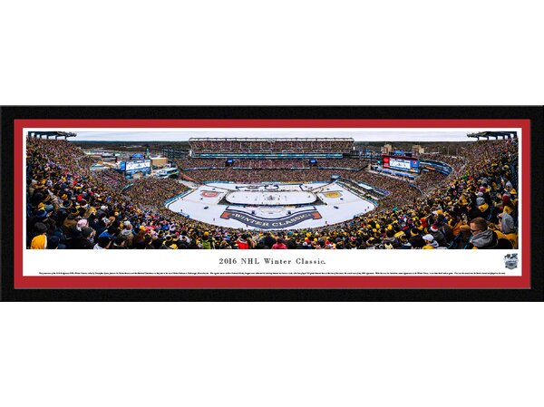 NHL Winter Classic 2016 - Canadiens by Christopher Gjevre Framed Photographic Print by Blakeway Worldwide Panoramas, Inc