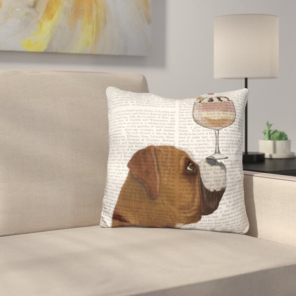 Boxer Ice Cream Throw Pillow by East Urban Home