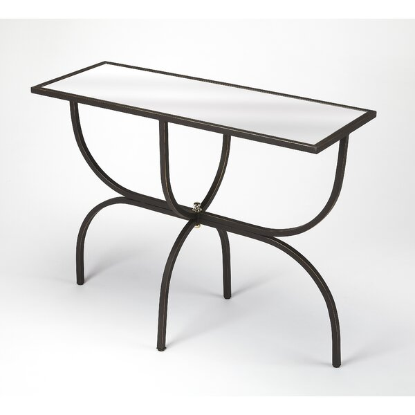 Review Colerane Metal And Mirror Console Table
