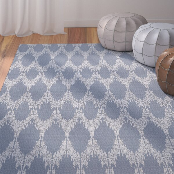Lassiter Geometric Blue Area Rug by Bungalow Rose
