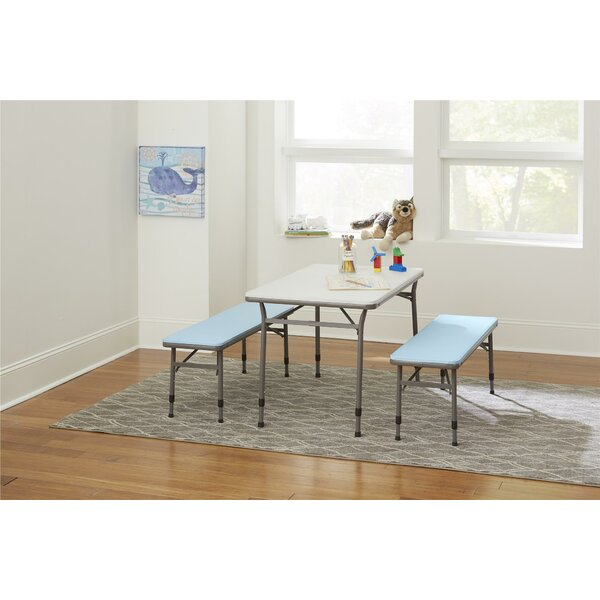 Epping Adjustable Height Kids 3 Piece Rectangular Table and Chair Set by Zoomie Kids