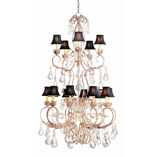 Alexandria 15 - Light Shaded Tiered Chandelier by 2nd Ave Design 2nd Ave Design