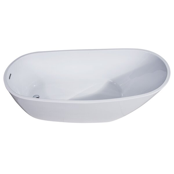 Oval Acrylic 68 x 30.5 Freestanding Soaking Bathtub by Alfi Brand