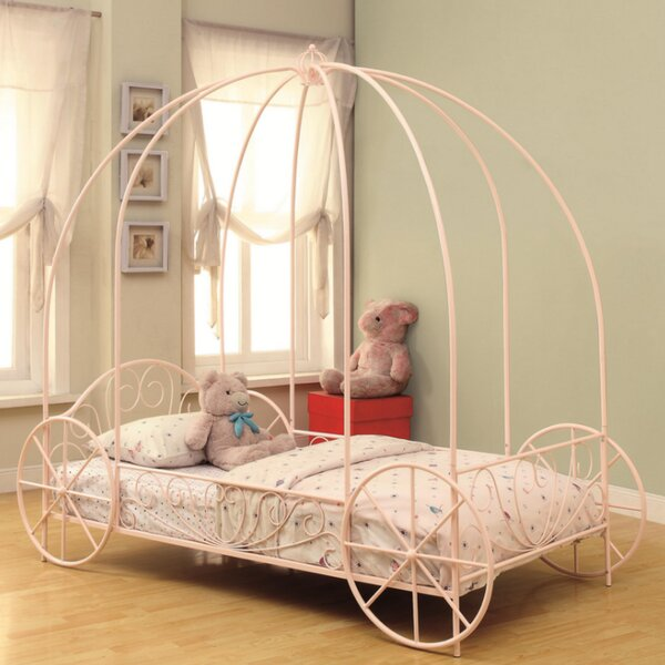 Korman Princesss Carriage Twin Canopy Bed by Zoomie Kids