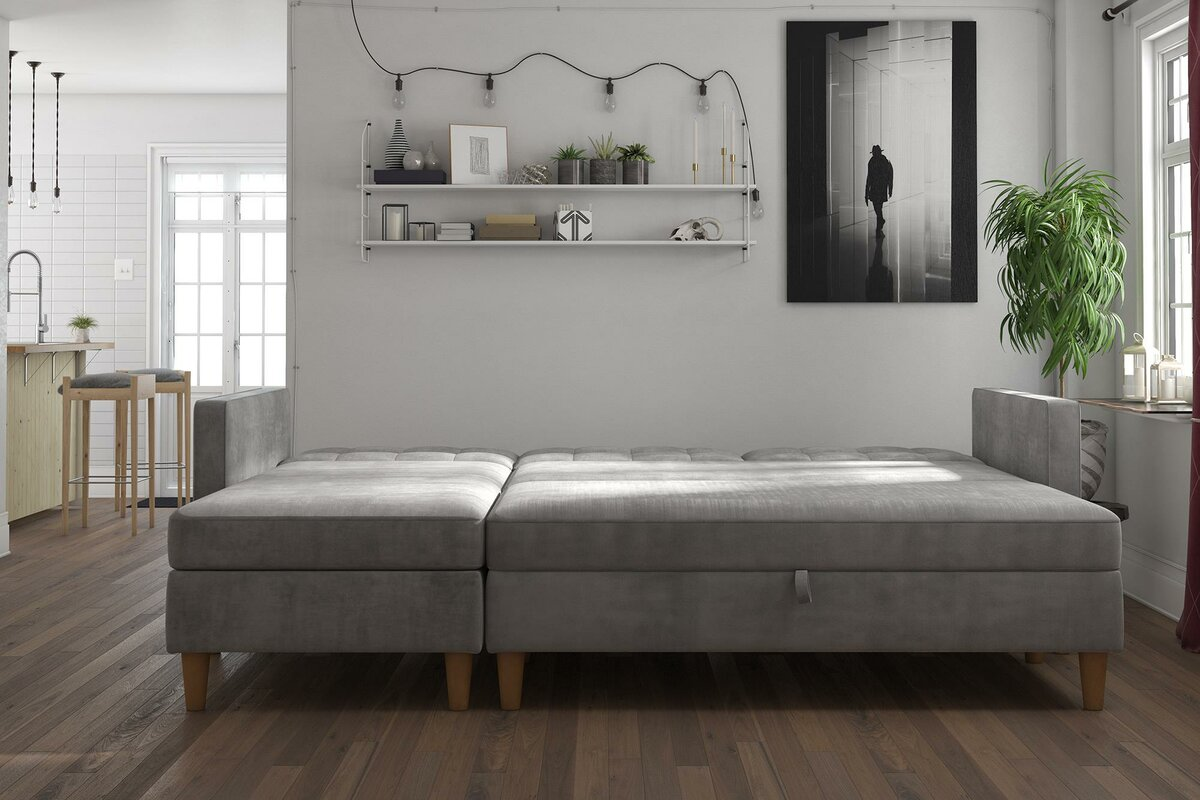 Stigall Reversible Sleeper Sectional Sofa For Small Space