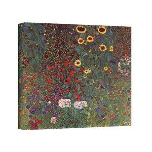 'Sunflower Grade' by Gustav Klimt Painting Print on Canvas by Three Posts