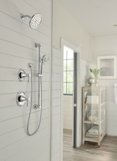 Belfield Shower Faucet with Lever Handle and Posi-Temp by Moen