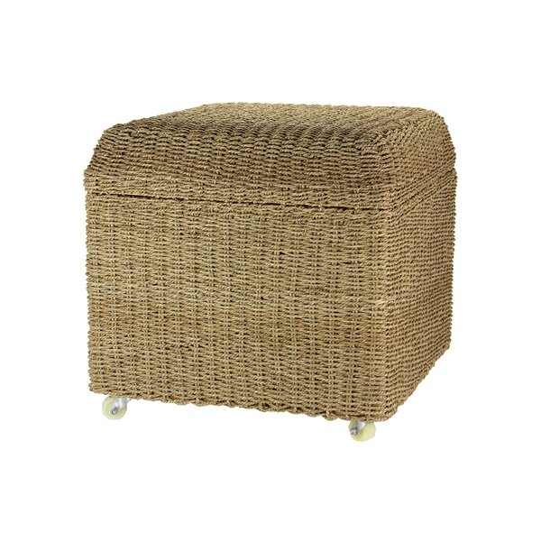 Griffen Upholstered Rolling Storage Ottoman by Beachcrest Home