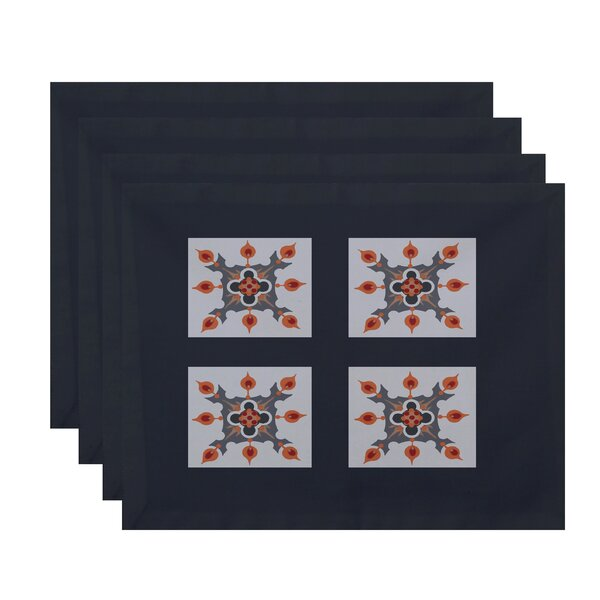 Shivansh Geometric Placemat (Set of 4) by Bungalow Rose