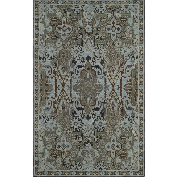 Hodgson Hand-Tufted Light Blue/Sage Area Rug by Red Barrel Studio