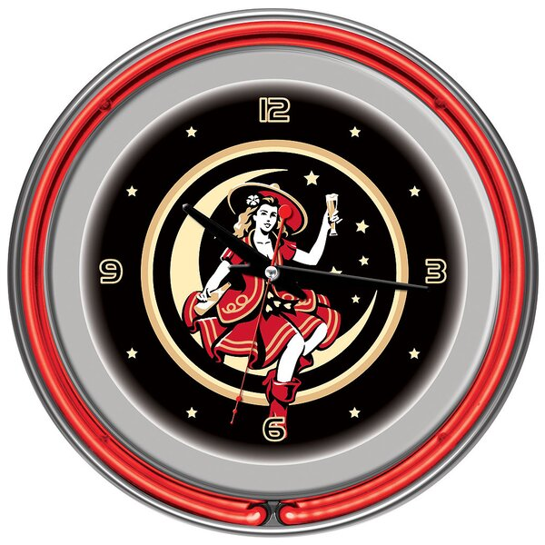 14 Miller High Life Girl in the Moon Vintage Wall Clock by Trademark Global